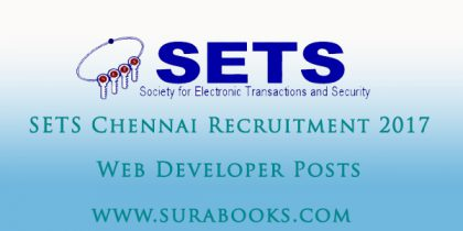 SETS Chennai Recruitment 2017 08 Web Developer Posts
