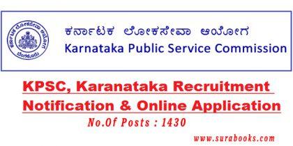 KPSC Recruitment 2017 1430 Medical Officer Posts