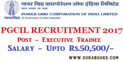 PGCIL Recruitment 2017 382 Field Engineer, Supervisor Posts