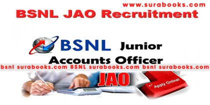 BSNL JAO Recruitment 2017 996 Junior Accounts Officer Posts