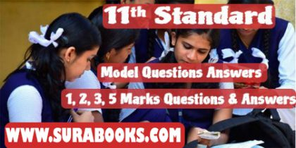 11th Std. Arts Group Model Question Papers For 2018 Public Exam