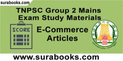 TNPSC Group 2 – Main Exam – E- Commerce Articles