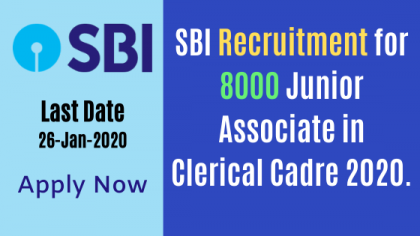 SBI Recruitment 2020 8000 Clerk Posts